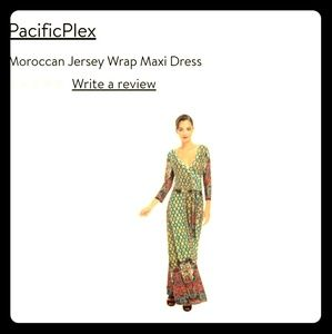 Faux wrap maxi dress